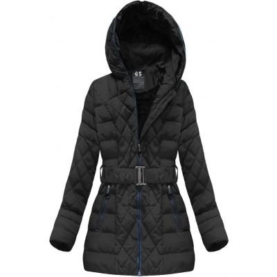 Prešívaná dámska zimná bunda čierna (23BS-B)