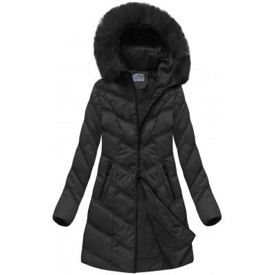Dámska zimná bunda čierna (B1061-30)