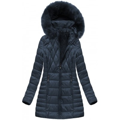 Dámska zimná bunda modrá (B1022-AB)