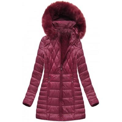 Dámska zimná bunda bordová (B1022-AB)