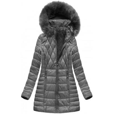 Dámska zimná bunda šedá (B1022-AB)