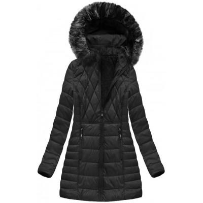 Dámska zimná bunda čierna (B1022-AB)