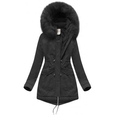 Dámska zimná bunda parka čierna (7617)