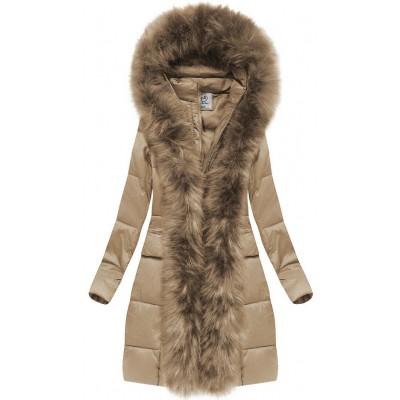 Dámska zimná bunda béžová (AURA)