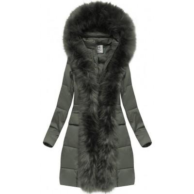 Dámska zimná bunda khaki (AURA)