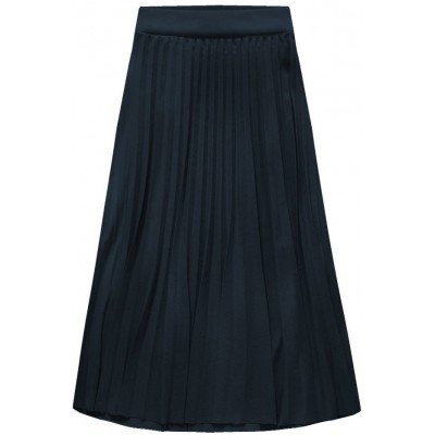 Dámska plisovaná sukňa midi tmavomodrá  (140ART)