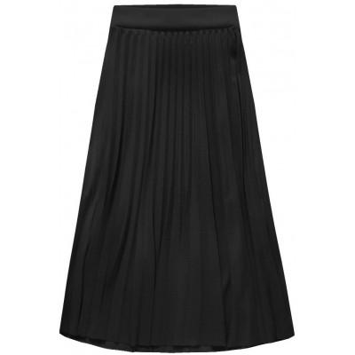 Dámska plisovaná sukňa midi čierna (140ART)