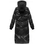 Dámska lesklá zimná bunda čierna (17115)