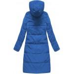 Dámska perová zimná bunda modrá (7123)