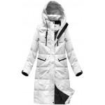 Dámska perová zimná bunda biela (7123)