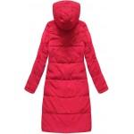 Dámska perová zimná bunda červená (7123)