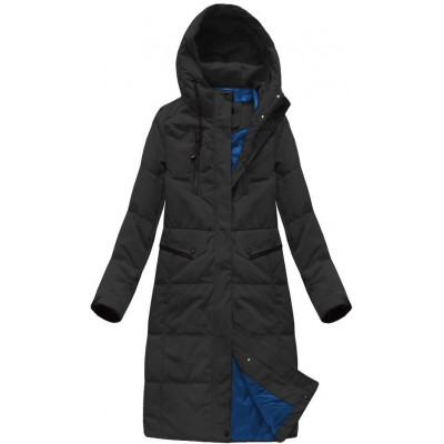Dámska perová zimná bunda čierna  (7123)