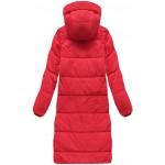 Dámska dlhá zimná bunda červená  (7118)