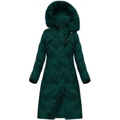 Dámska zimná bunda zelená (7119)