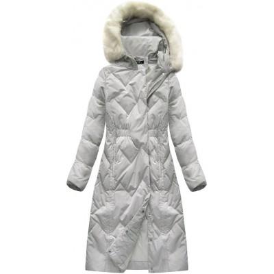 Dámska zimná bunda ecru (7119)
