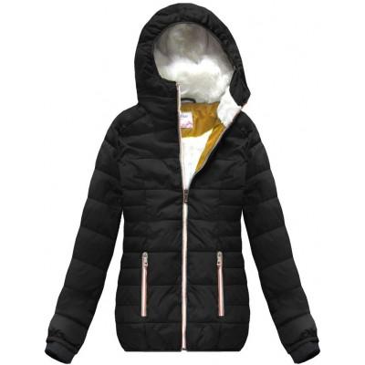 Krátka zimná bunda čierna 2 (391W)