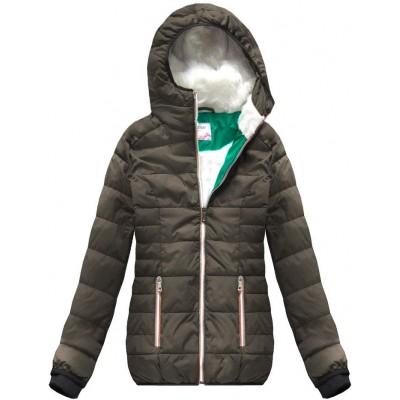 Krátka zimná bunda hnedá (391W)