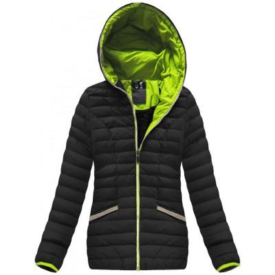Krátka dámska zimná bunda čierna (CX583W)
