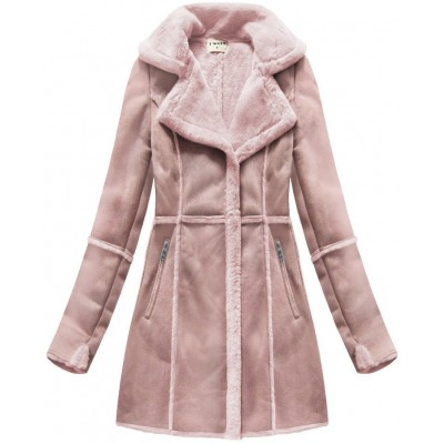 Dámsky semišový kabát staroružový (S-1802)