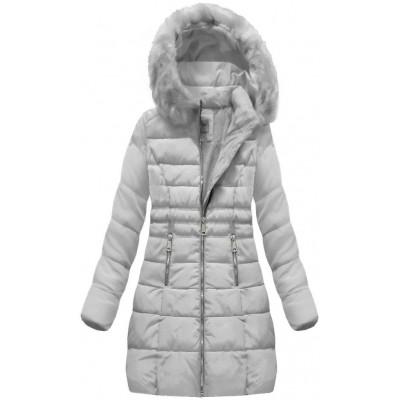 Dámska zimná bunda šedá (B1052-30)