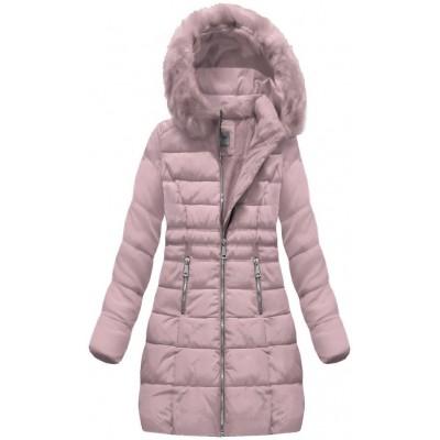 Dámska zimná bunda ružová (B1052-30)