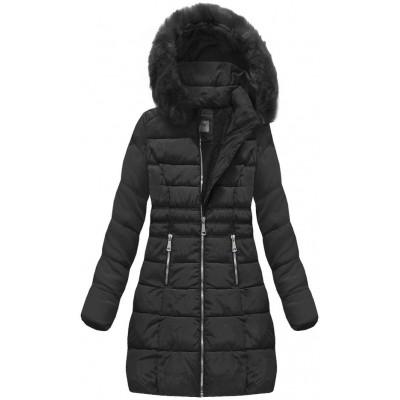 Dámska zimná bunda čierna (B1052-30)
