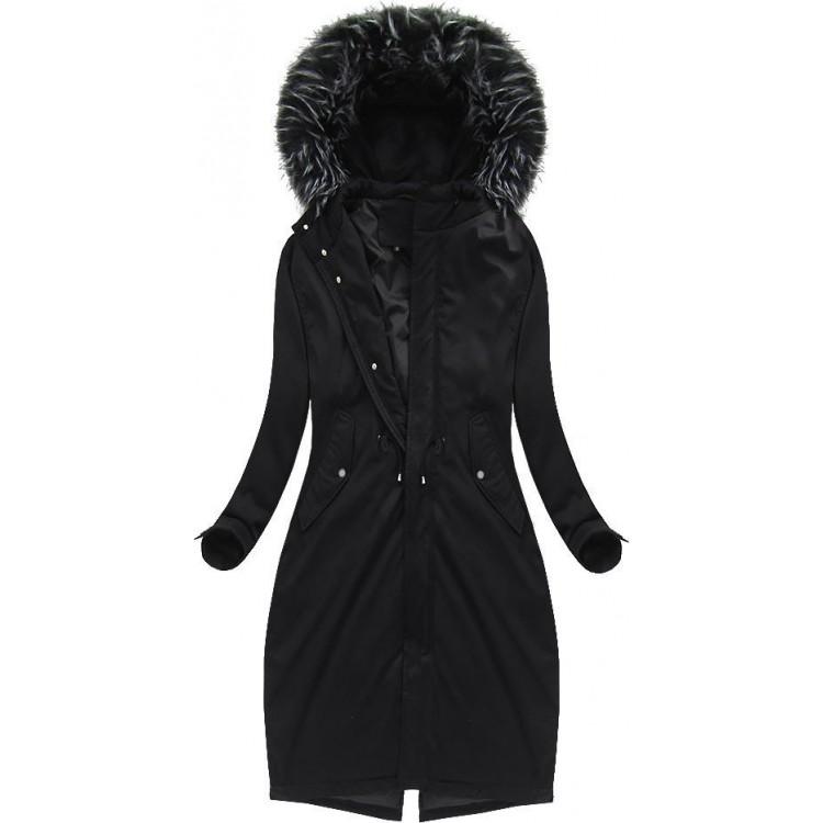 Dámska bavlnená zimná bunda čierna (7085/1)