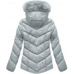Dámska prešívaná zimná bunda šedá (B1038-AB)