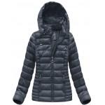 Dámska prešívaná zimná bunda modrá (B1033-30)