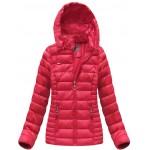 Dámska prešívaná zimná bunda červená (B1033-30)