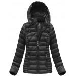 Dámska prešívaná zimná bunda čierna (B1033-30)