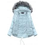 Dámska zimná bunda svetlomodrá (YB917)