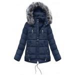 Dámska zimná bunda modrá (YB917)