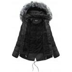 Dámska zimná bunda čierna (YB917)