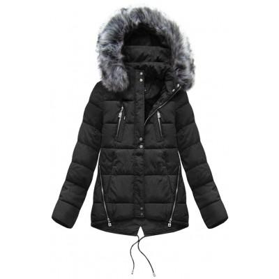 Dámska zimná bunda čierna (YB917) 12e66212d95