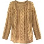 Dámsky sveter karamelový (189ART)
