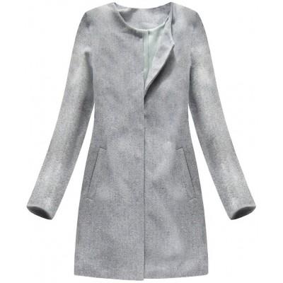 Dámsky kabát svetlošedý (172 1ART) cdddeda1dde