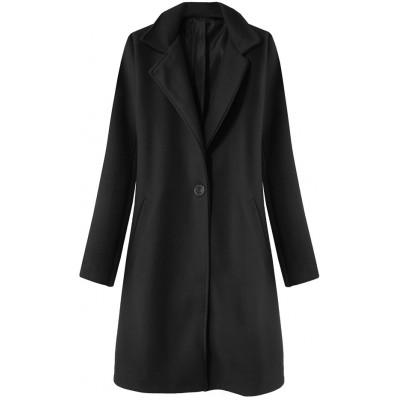 Dámsky jarný kabát čierny (3106)