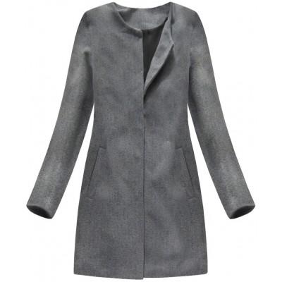 Dámsky kabát tmavošedý (172/1ART)