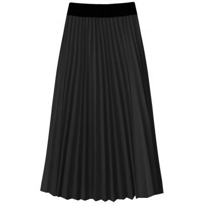 Dámska plisovaná midi sukňa čierna (201ART)