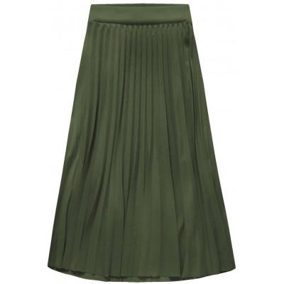 Dámska plisovaná sukňa midi khaki (140ART)