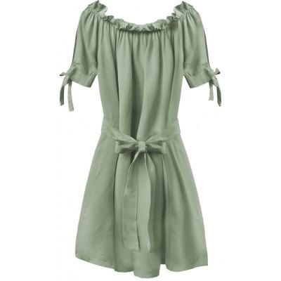 Dámske krátke šaty khaki (279ART)