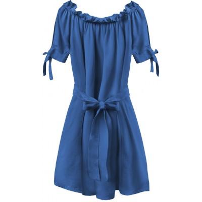 Dámske krátke šaty modré (279ART)