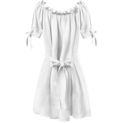 Dámske krátke šaty biele (279ART)