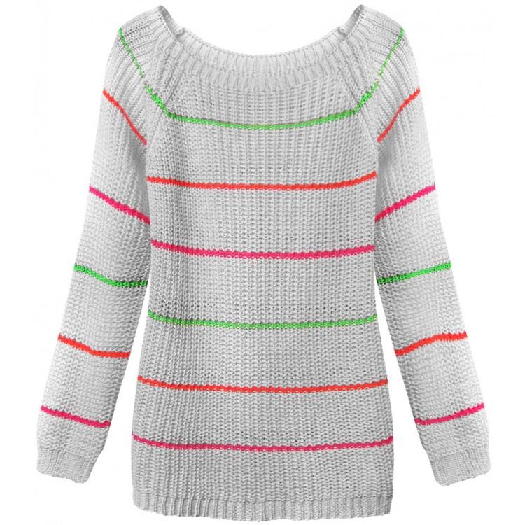Dámsky sveter šedý (275ART)