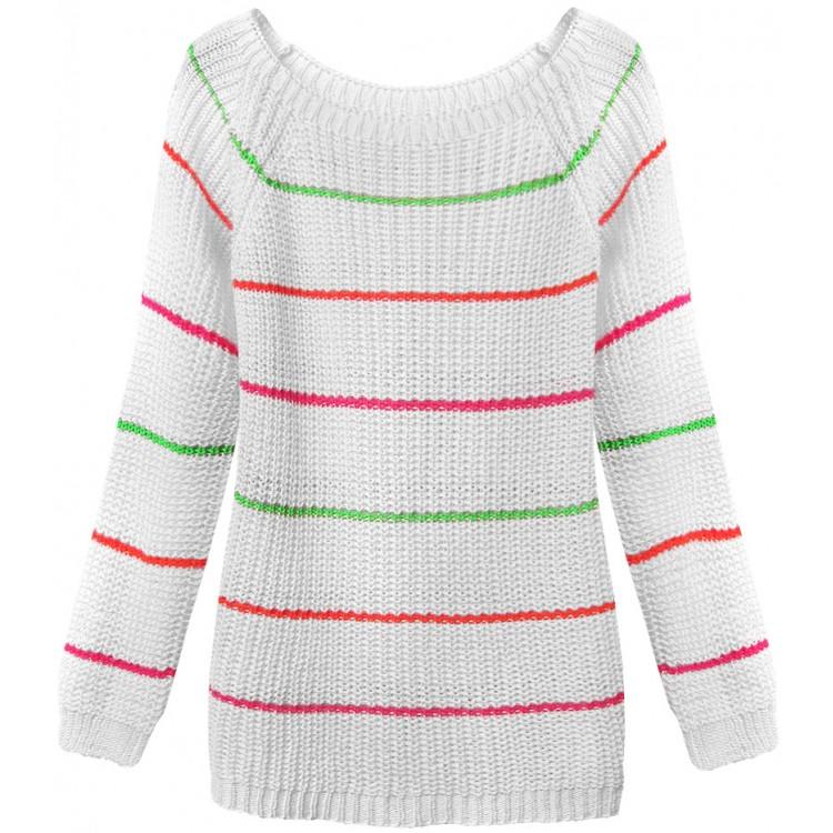 Dámsky sveter biely (275ART)