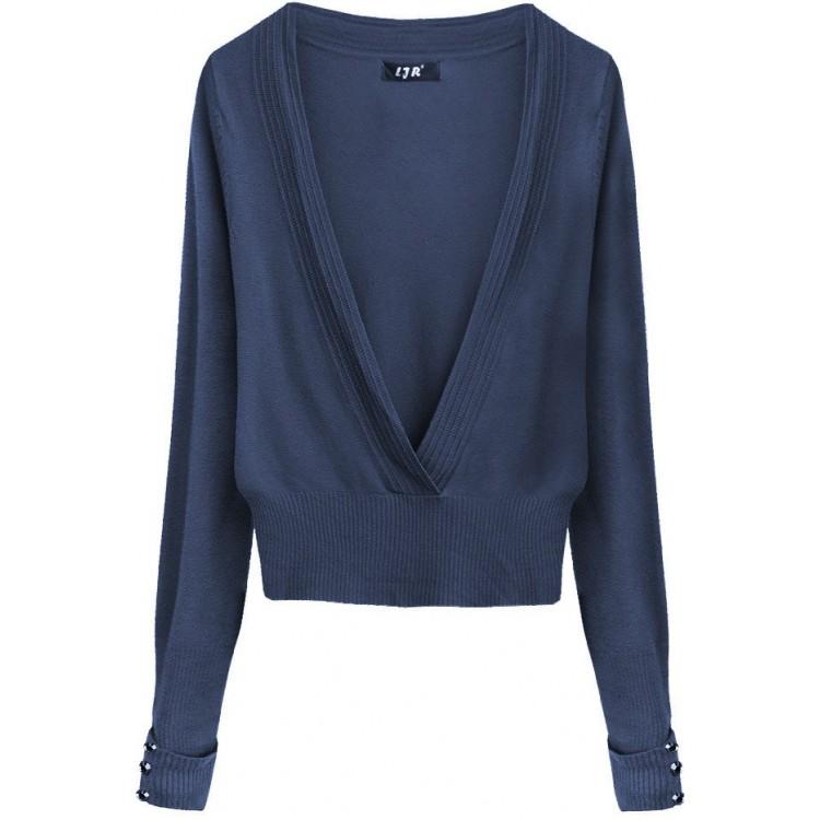Dámsky sveter modrý (X1117X)