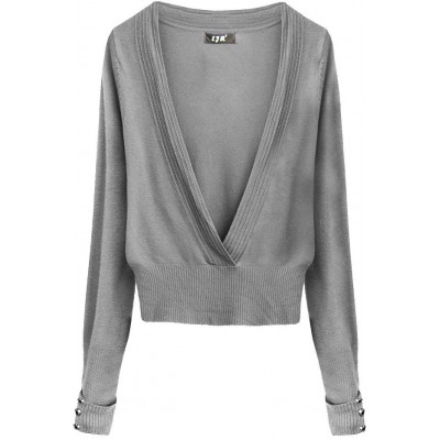 Dámsky sveter šedý (X1117X)