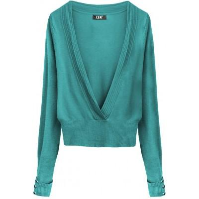 Dámsky sveter zelený (X1117X)