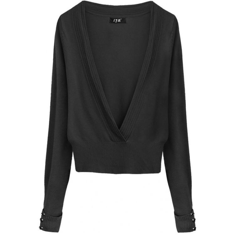 Dámsky sveter čierny (X1117X)